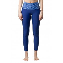 "Women's High Waist Leggings ""China Blue"""